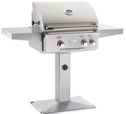 24npt patio post grill, stainless steel